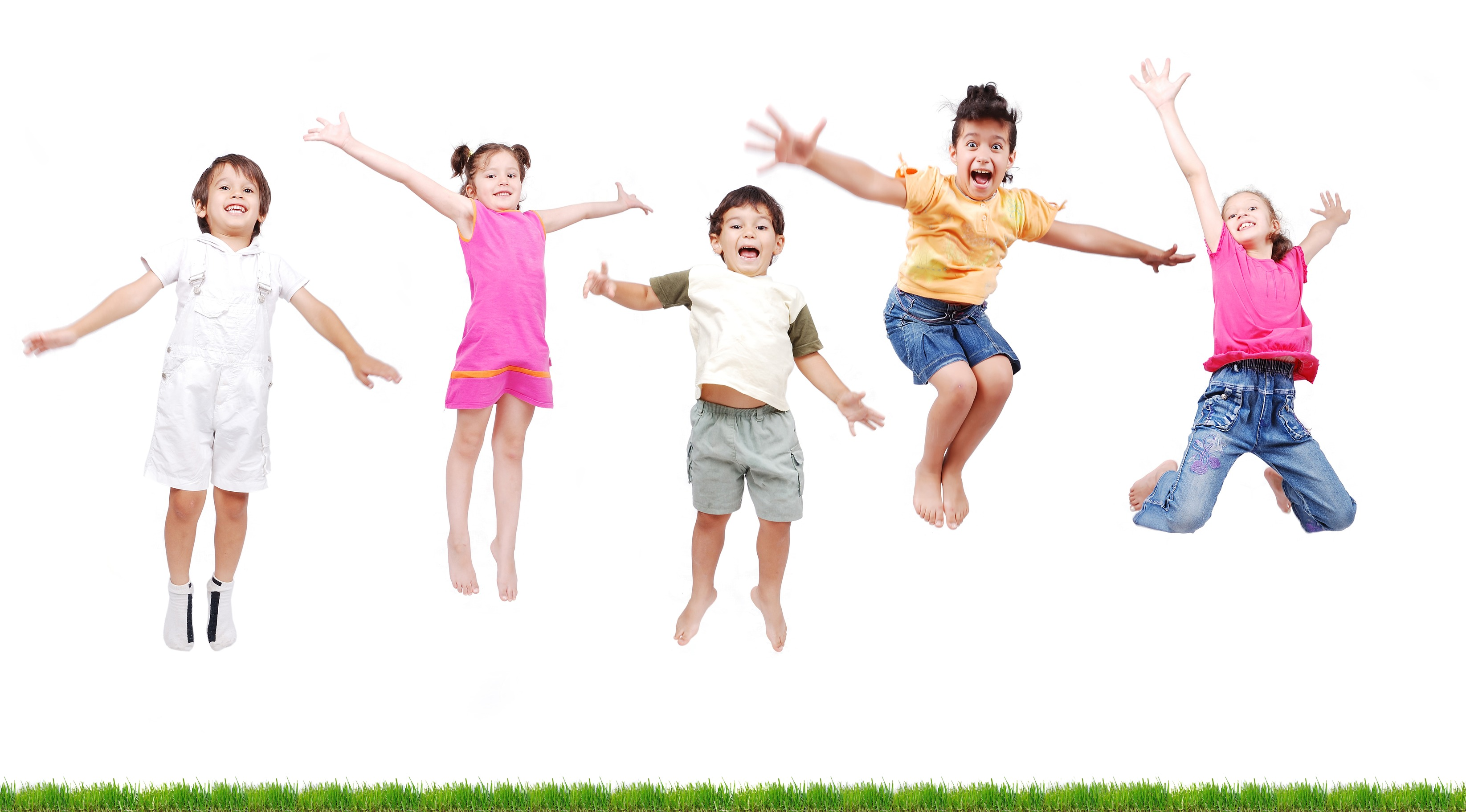 happy kids , jumping - Dr Osama Abu Taleb
